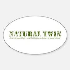 Natural Twin Oval Decal
