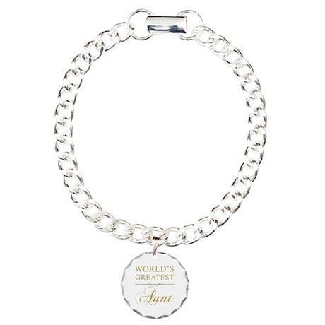 World's Greatest Aunt Charm Bracelet, One Charm