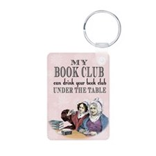 Book Club Aluminum Photo Keychain