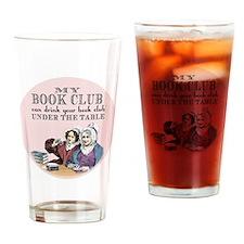 Cute Book club Drinking Glass