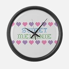Sweet MELANIE Large Wall Clock