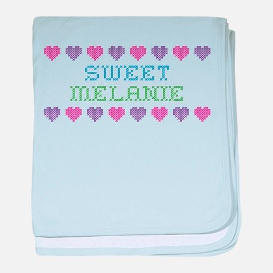 Sweet MELANIE baby blanket