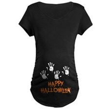 Twin Handprints Halloween T-Shirt