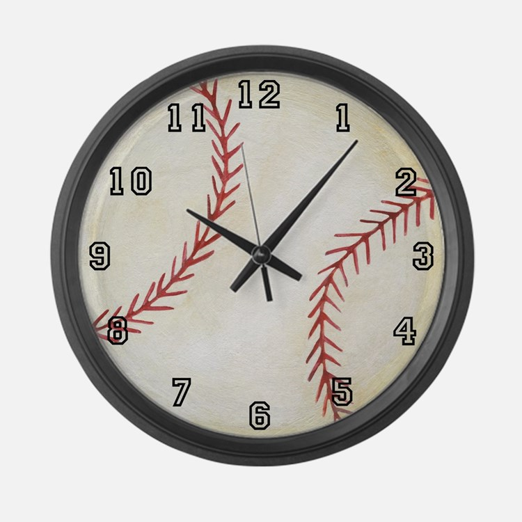 baseball clocks | baseball wall clocks | large, modern, kitchen clocks