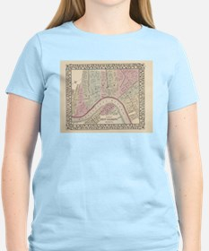 Vintage Map of New Orleans (1880) T-Shirt