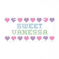 Sweet VANESSA Aluminum License Plate