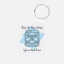 Bun in the Oven (blue) Keychains