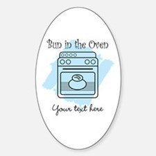 Bun in the Oven (blue) Decal