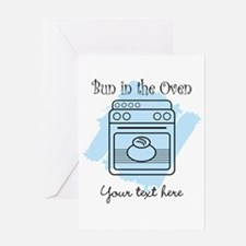 Bun in the Oven (blue) Greeting Card