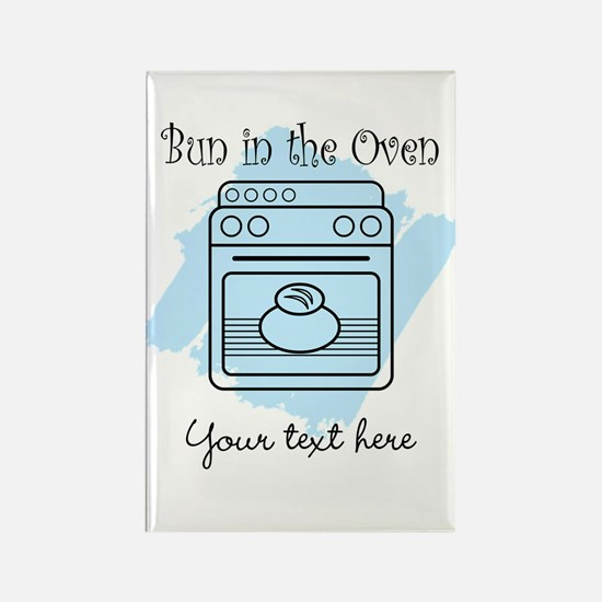 Bun in the Oven (blue) Rectangle Magnet