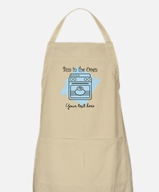 Bun in the Oven (blue) Apron