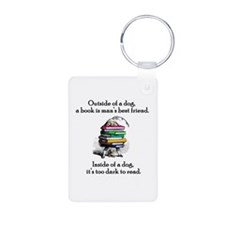A Book Is Man's Best Friend Keychains