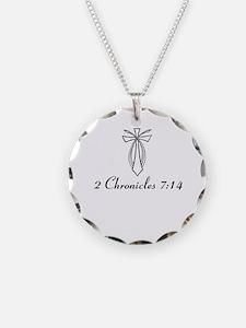 2 Chr 7:14 Cross Fish - Necklace