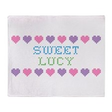Sweet LUCY Throw Blanket