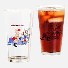 MMA-Santa Vs Jack Frost Drinking Glass