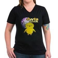 DWTS Chick Women's Dark V-Neck T-Shirt