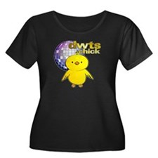DWTS Chick Women's Dark Plus Size Scoop Neck T-Shi