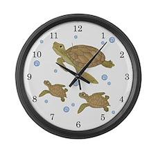 Sea Turtle Large Wall Clock