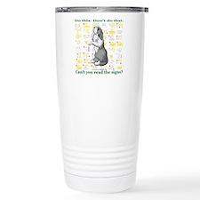 Can't You Read: Beardie Travel Mug