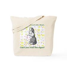 Can't You Read: Beardie Tote Bag