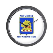 DUI-NEW JERSEY ANG WITH TEXT Wall Clock