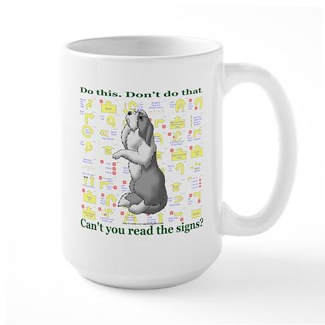 Can't You Read: Beardie Large Mug