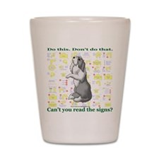 Can't You Read: Beardie Shot Glass
