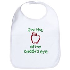 Apple of Daddy's Eye (red) Bib