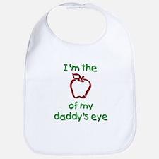 Apple of Daddy's Eye (red) Bib