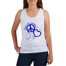 Peace, Love & Baseball Women's Tank Top