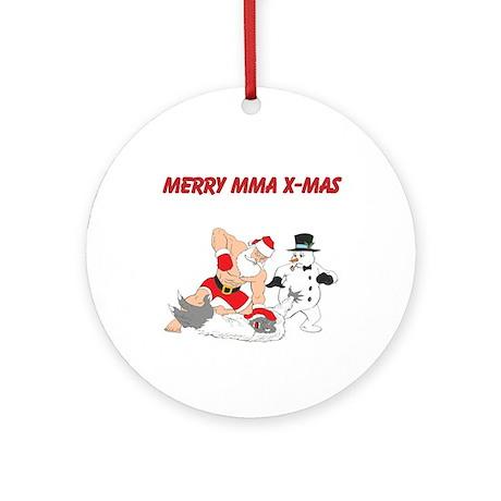 MMA Santa Ornament (Round)