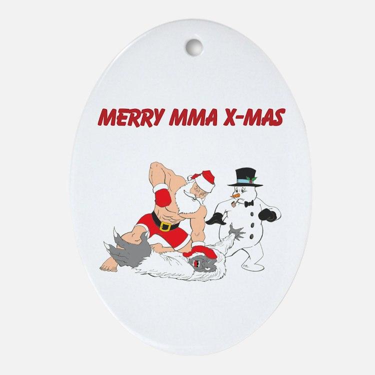 MMA Santa Ornament (Oval)