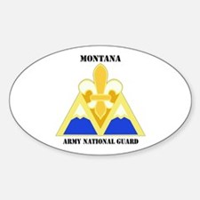 DUI-MONTANA ANG WITH TEXT Sticker (Oval)