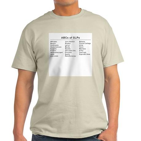 ABCs of SLPs Ash Grey T-Shirt
