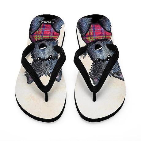 Winter Coat Scottie Dog Flip Flops