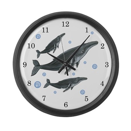 Humpback Whale Large Wall Clock