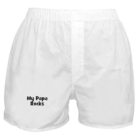 My Papa Rocks Boxer Shorts