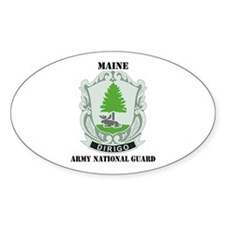DUI - Maine Army National Guard with text Decal
