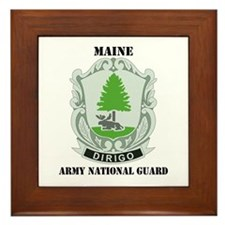 DUI - Maine Army National Guard with text Framed T