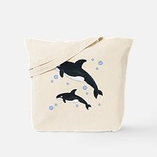 Orca Whale Tote Bag