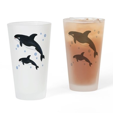 Orca Whale Drinking Glass