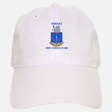 DUI-INDIANA ARMY NATIONAL GUARD WITH TEXT Baseball Baseball Cap