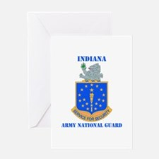 DUI-INDIANA ARMY NATIONAL GUARD WITH TEXT Greeting