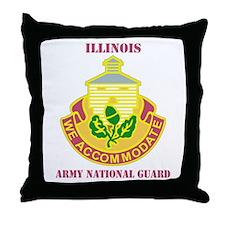 DUI-ILLINOIS ANG WITH TEXT Throw Pillow