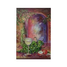 White Wine, Green Grapes Rectangle Magnet