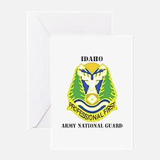 DUI-IDAHO ANG WITH TEXT Greeting Card
