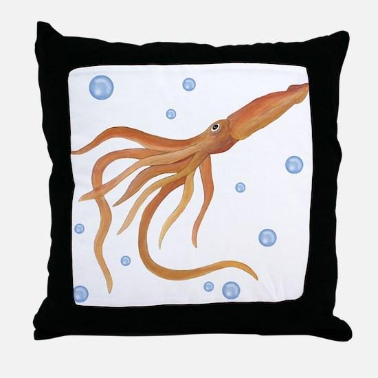 Squid Throw Pillow
