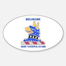 DUI-DELAWARE ANG WITH TEXT Sticker (Oval)