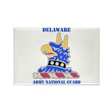 DUI-DELAWARE ANG WITH TEXT Rectangle Magnet