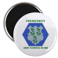 """DUI-CONNECTICUT ANG WITH TEXT 2.25"""" Magnet (100 pa"""